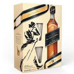 Whisky Johnnie Walker Black Label + 2 Vasos